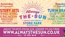 Always the Sun festival Guildford Stoke Park new music local bands
