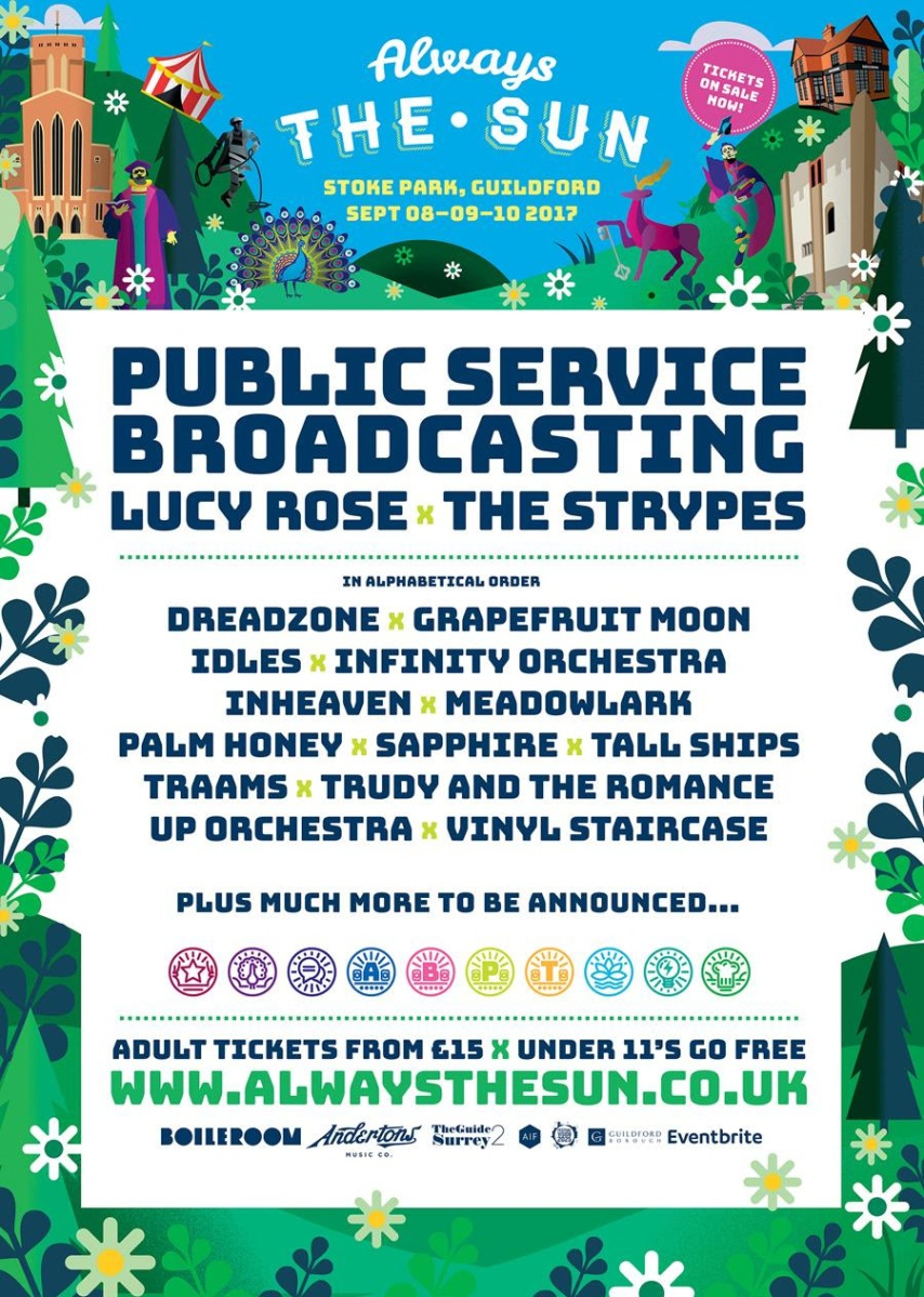 Guildford's Always the Sun Festival announces first wave of