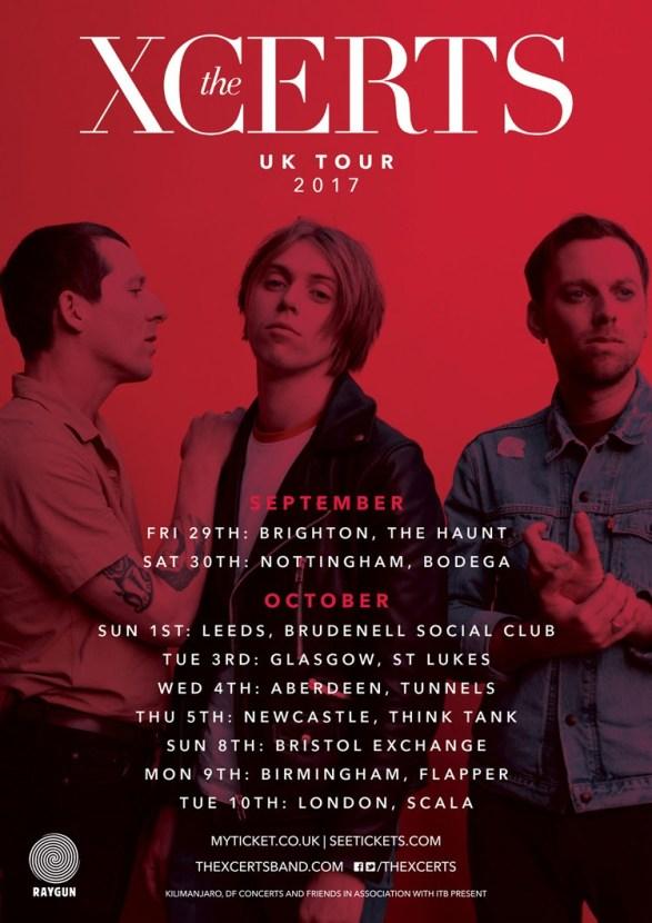 Xcerts 2017 UK tour Daydream
