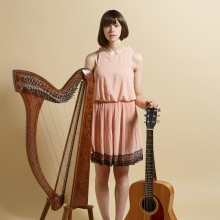 Natalie Evans live video Brighton Under the Moon harp