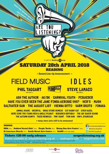 Are You Listening? Festival Reading 2018 Idles Field Music