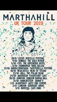 Martha Hill Blindfold new music 2019 UK tour